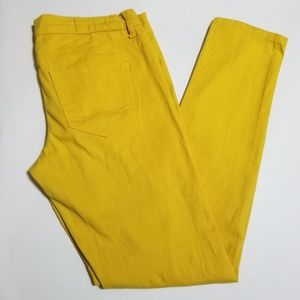 Vanilla Star Bright Yellow Low Rise Skinny Pants